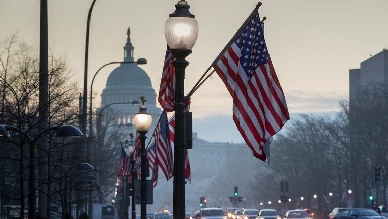 Washington bereidt zich voor op de inauguratie. Beeld AP