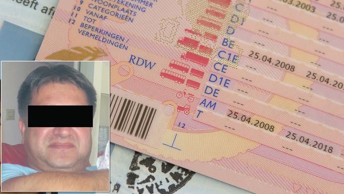 Verdachte Zabihullah A. (inzet) wordt verdacht van betrokkenheid in de rijbewijsfraudezaak.