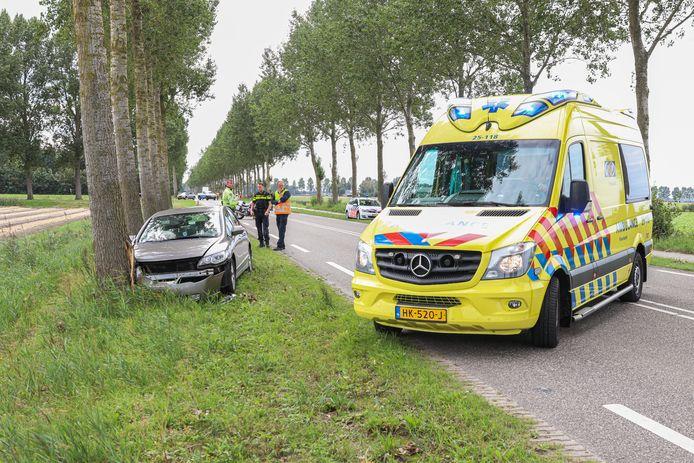 Het verkeersongeluk tussen  Espel en Creil.