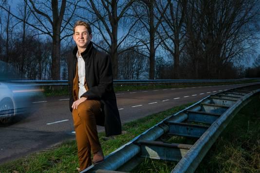 Noah Brok bij De Hoeven tussen Haarsteeg en Elshout.