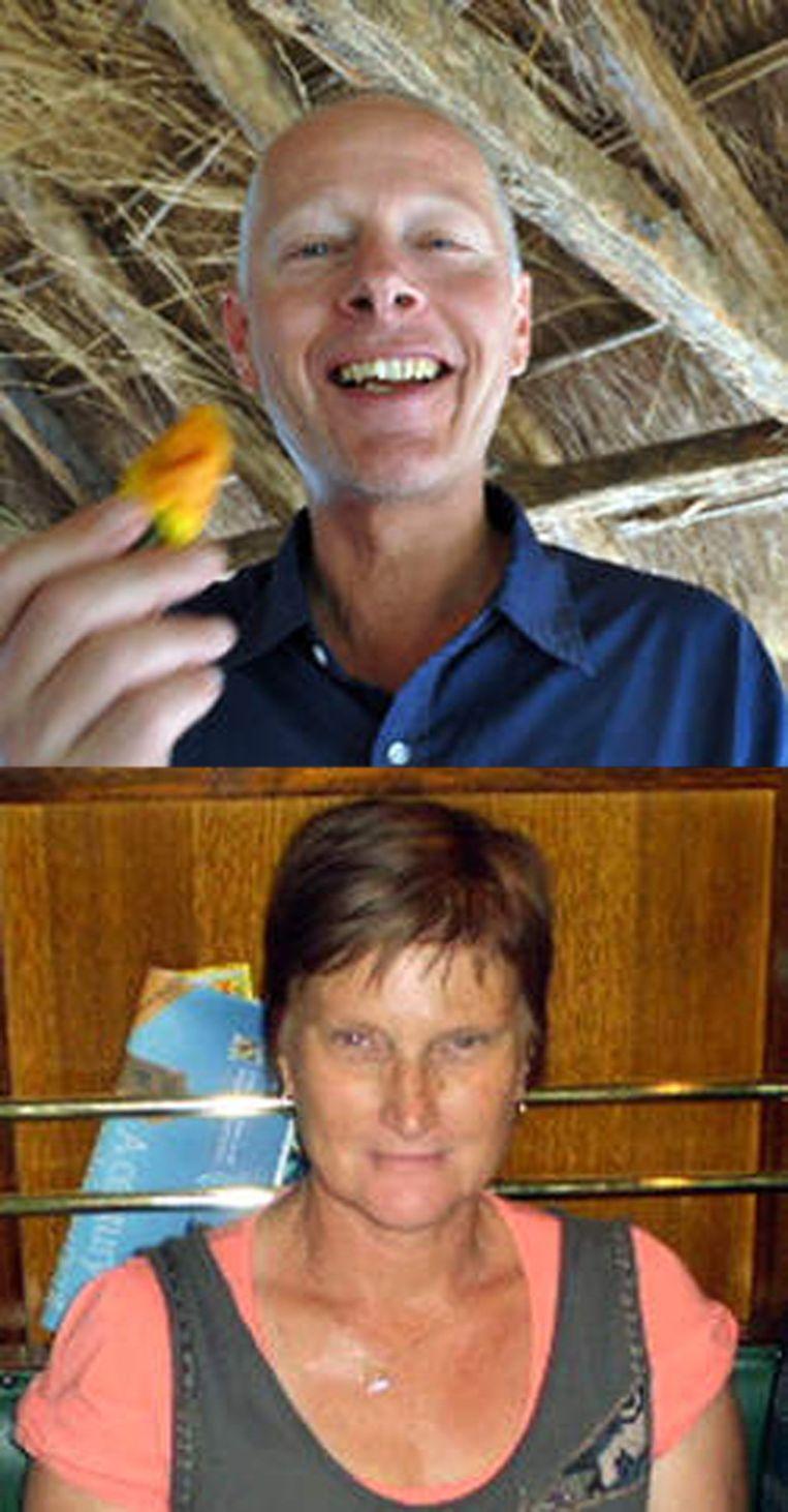 Arjen en Yvonne Ryder, op foto's die door een broer van Arjen aan persbureau AP zijn gegeven. Beeld ap