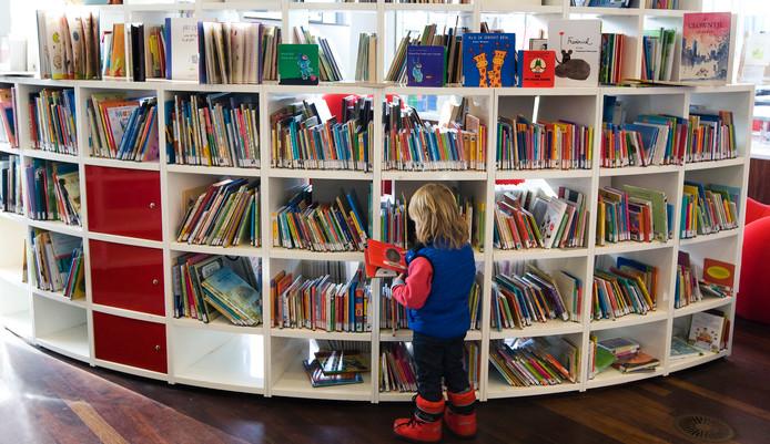 Kinderboeken in een openbare bibliotheek