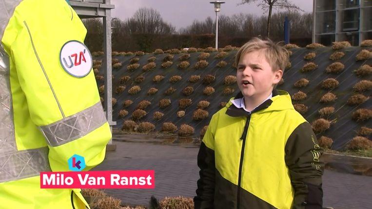 Milo Van Ranst, de zoon van viroloog Marc Van Ranst, als Karrewietreporter.