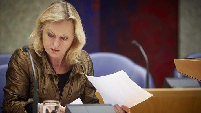 Minister Bussemaker van Onderwijs in de Tweede Kamer.