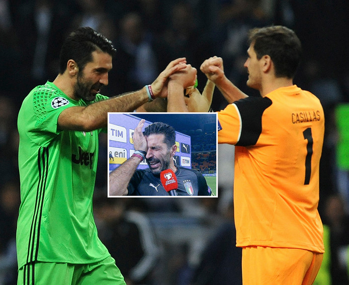 Gianluigi Buffon en Iker Casillas.