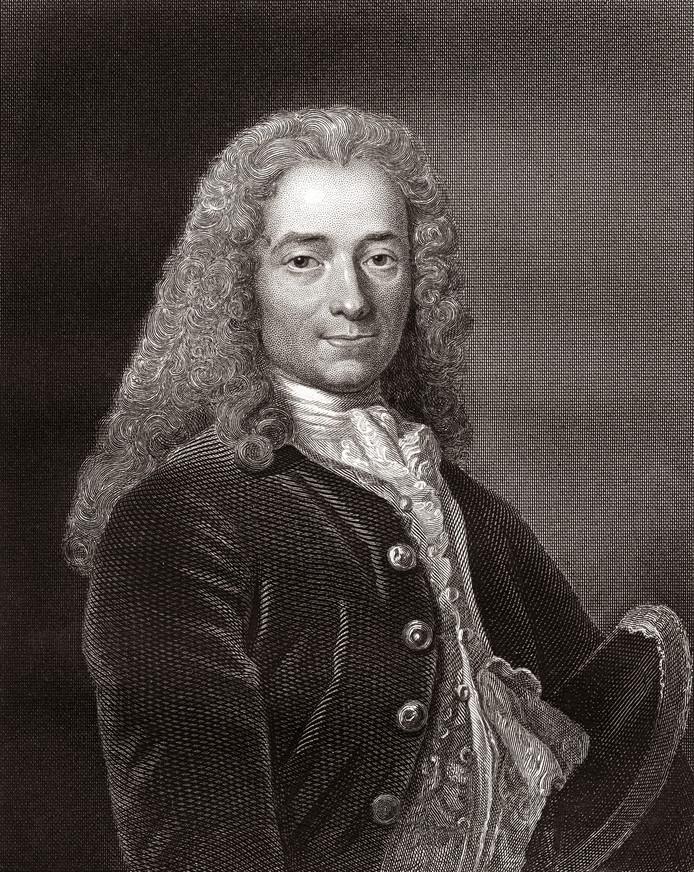 Francois Marie Arouet de Voltaire.