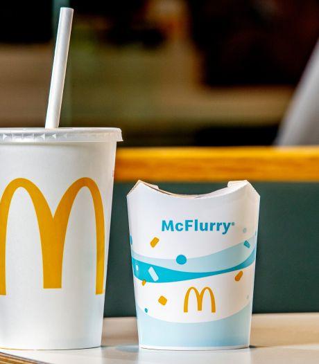 McDonald's doet plastic rietjes en deksels in de ban