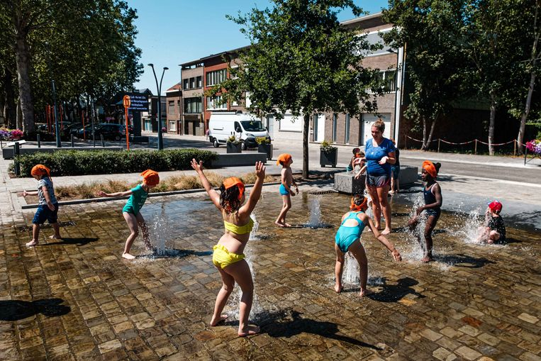 Waterpret in de fonteinen.