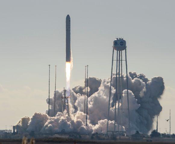 De ruimtecapsule werd zaterdag gelanceerd in Virginia.