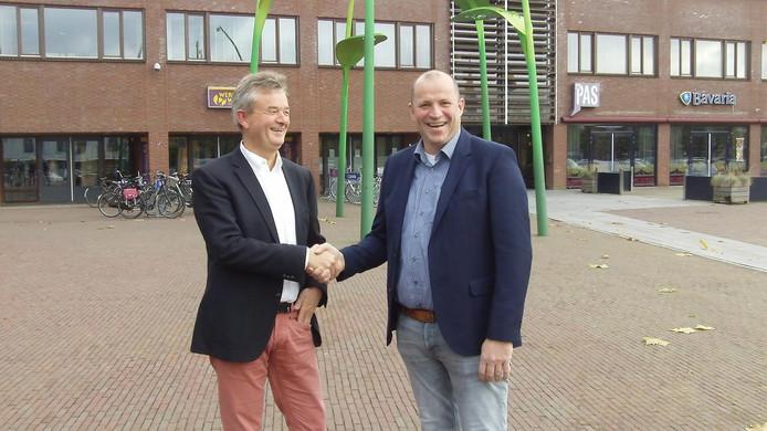 Wethouder Rien Wijdeven (links) en Paul van de Wielen van Duurzaam Landleven.