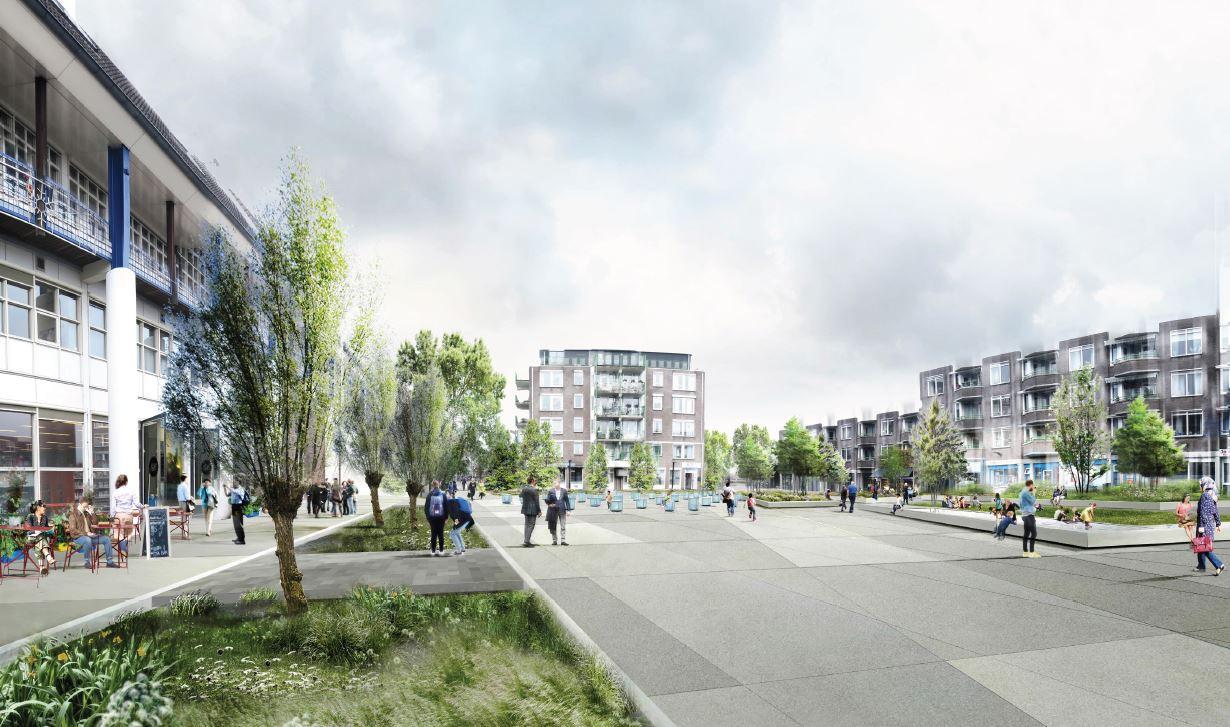 Zo komt het Reilinghplein er straks mogelijk uit te zien.