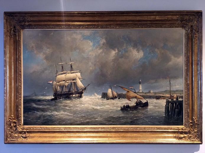 Het schilderij uit 1896 van Chr. van Dommelshuizen in het gemeentehuis van Hellevoetsluis.
