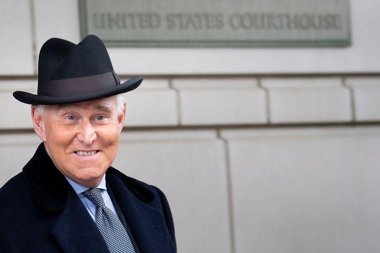 Roger Stone bij de federale rechtbank in Washington D.C. Beeld AFP