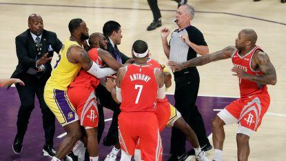 Tumult in NBA: teams gaan met mekaar op de vuist in eerste thuiswedstrijd LeBron