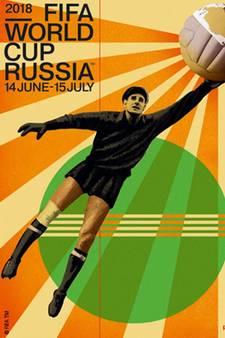 Legende Lev Yashin siert poster voor WK