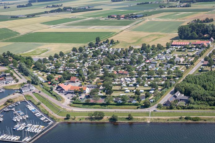 Een deel van het recreatiegebied in Wolphaartsdijk.