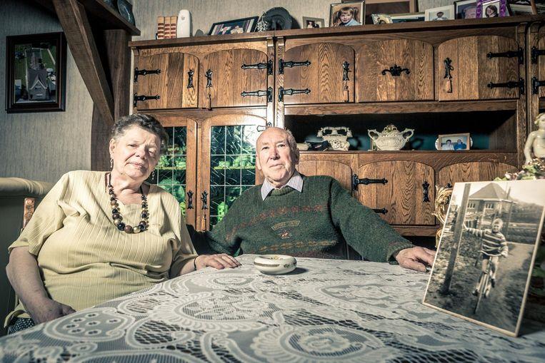 Gilberte en haar man Frans Pauwels net voor de herdenking van het drama van Walfergem.