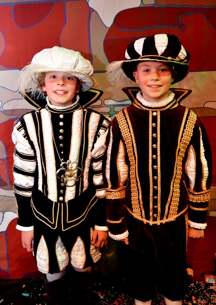 Jeugdprins Jippe I en zijn adjudant Jarno regeren dit carnavalsseizoen over de jeugd van Oeteldonk.