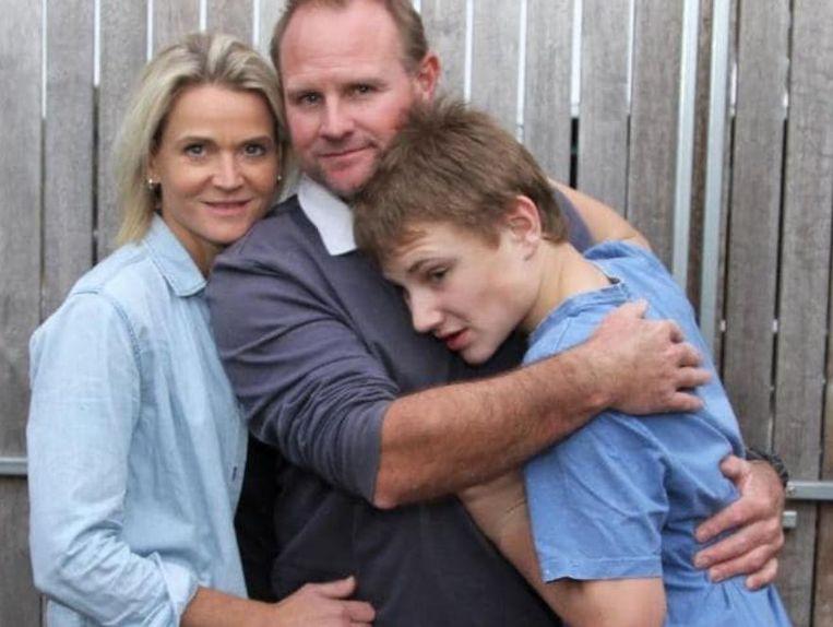 Max en zijn ouders Liz en Sean.