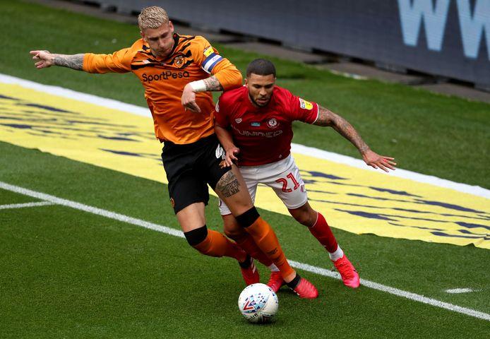 Jordy de Wijs in actie tegen Bristol City.