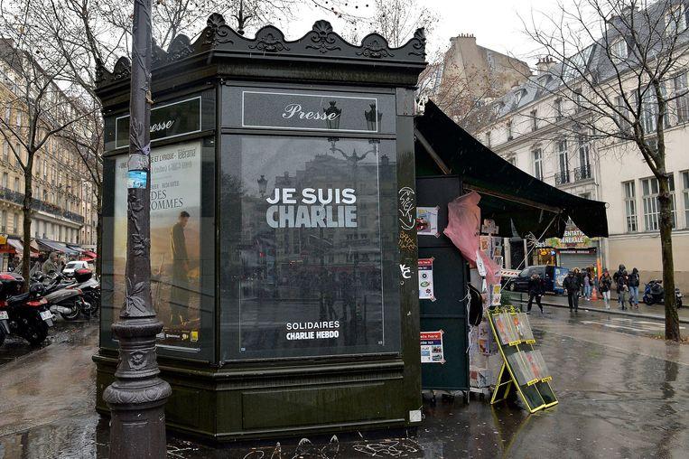Een kiosk in Parijs Beeld getty