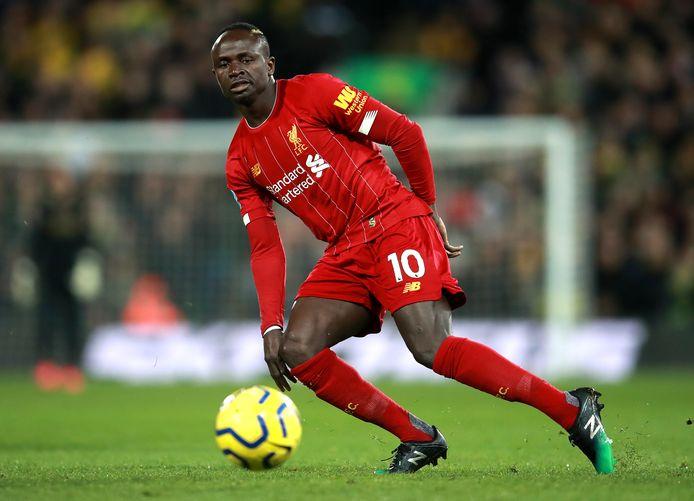 Sadio Mané in actie namens Liverpool.