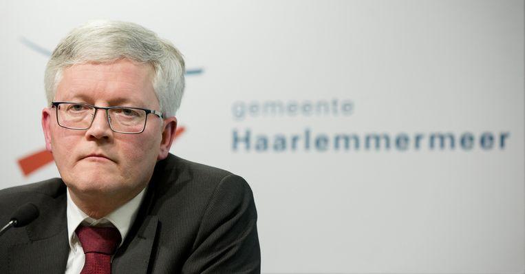 Burgemeester Theo Weterings van Haarlemmermeer Beeld anp