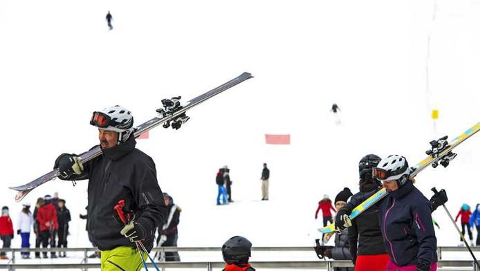 Skiërs in Lech.