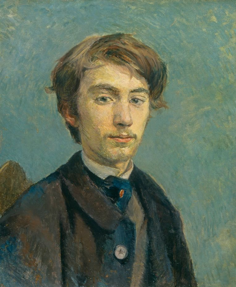 Portret van Emile Bernard, 1885, Henri de Toulouse-Lautrec. Beeld Van Gogh Museum