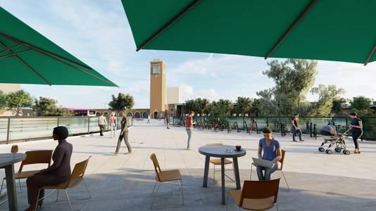 Op het terras van het toekomstige, nieuwe Metterswane.