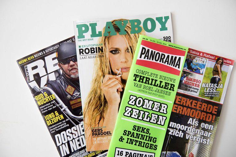 De mannenbladen van Sanoma werd vorig jaar overgenomen door Pijper Media. Beeld anp