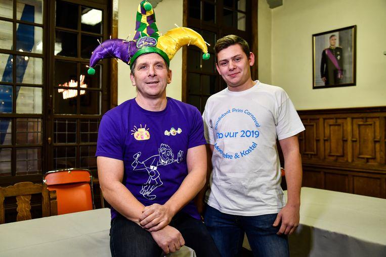 Danny (links) en Bib (rechts) strijden voor de titel van Prins Carnaval 2019.