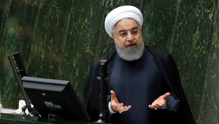 De Iraanse president Hassan Rouhani Beeld epa
