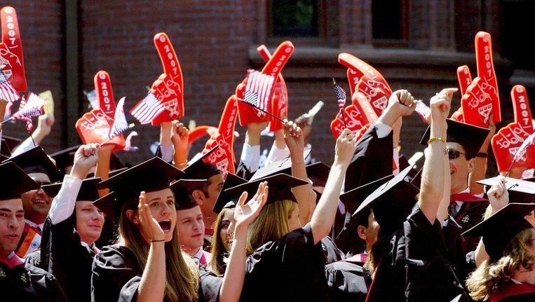 Harvardstudenten vieren hun afstuderen Beeld ANP