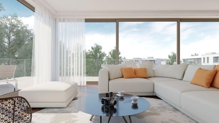 Het uitzicht vanuit de appartementen zal erg groen zijn.