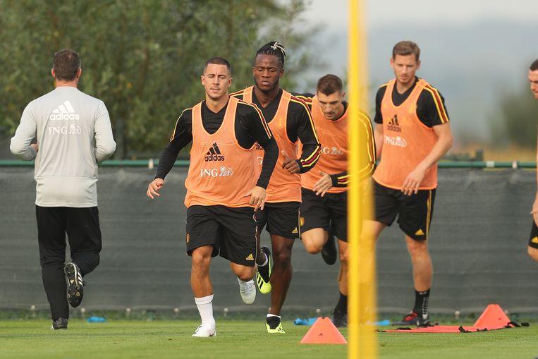 Eden Hazard, gisteren wel present, ontbrak vandaag.
