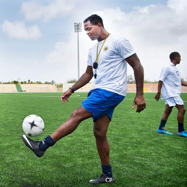 In het stadion van het Curaçaos voetbalelftal, 2015. Beeld Guus Dubbelman
