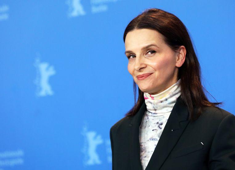 Juliette Binoche op het Berlin Film Festival.