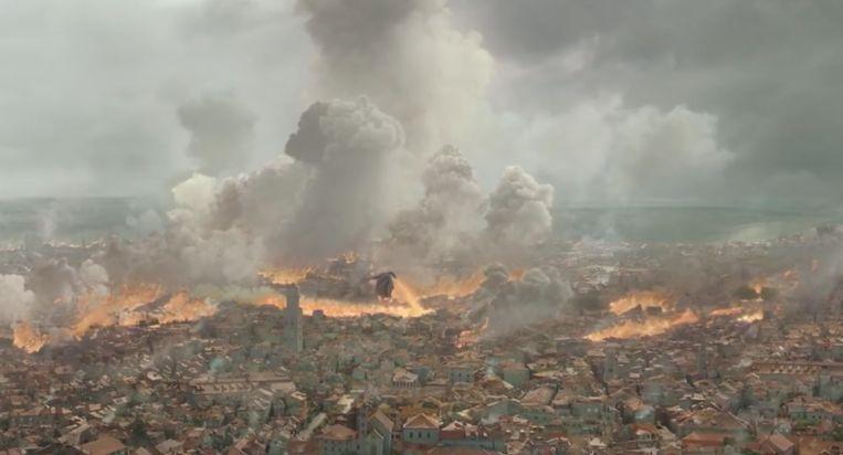 De stad staat in brand...