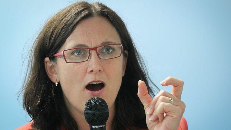 Cecilia Malmström. Beeld epa