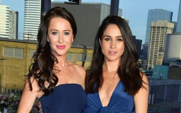 Meghan (rechts) en haar voormalige goede vriendin en styliste, Jessica Mulroney.