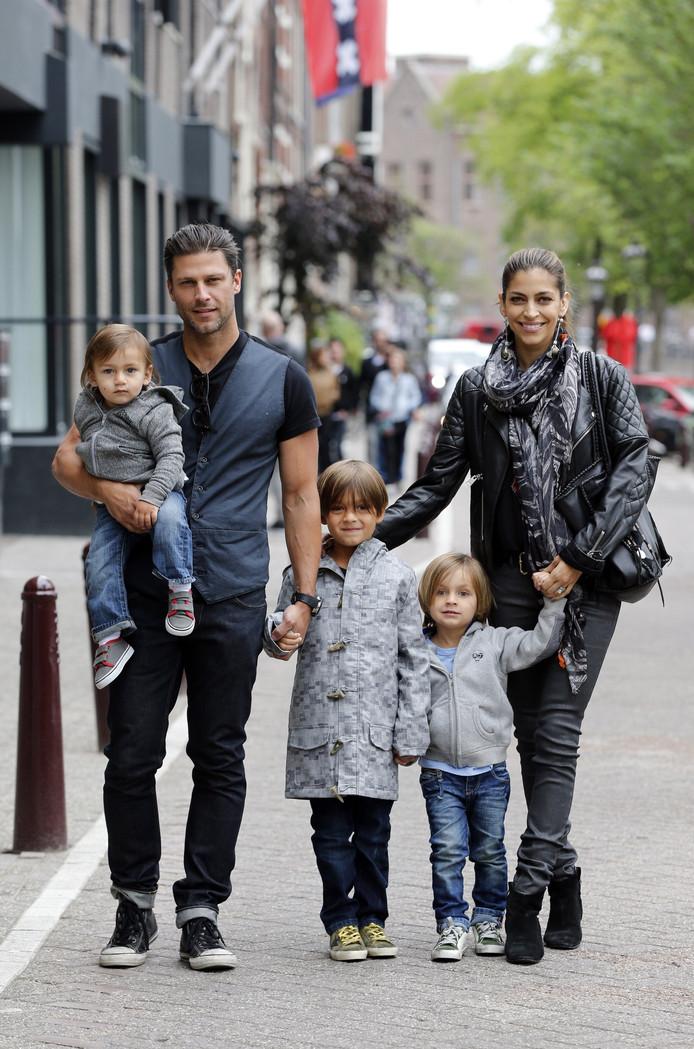 Touriya en haar gezin.