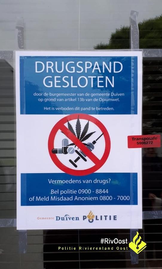 Drugspand in Duiven een maand op slot | Foto | gelderlander nl