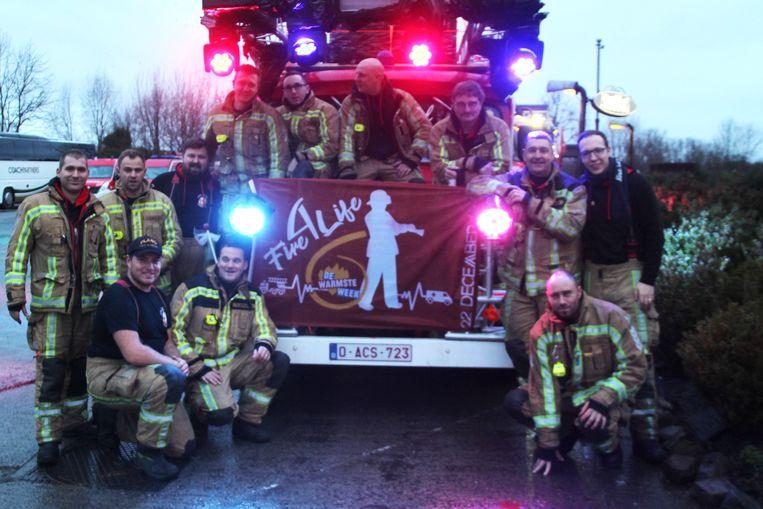 De vrijwilligers van brandweerpost Wichelen verwelkomden meer dan 250 collega's voor een gezamenlijk ontbijt.