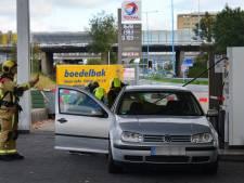 Tankstation dicht door auto met gaslek