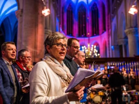 Opnames EO-programma Nederland Zingt in de Grote Kerk in Apeldoorn