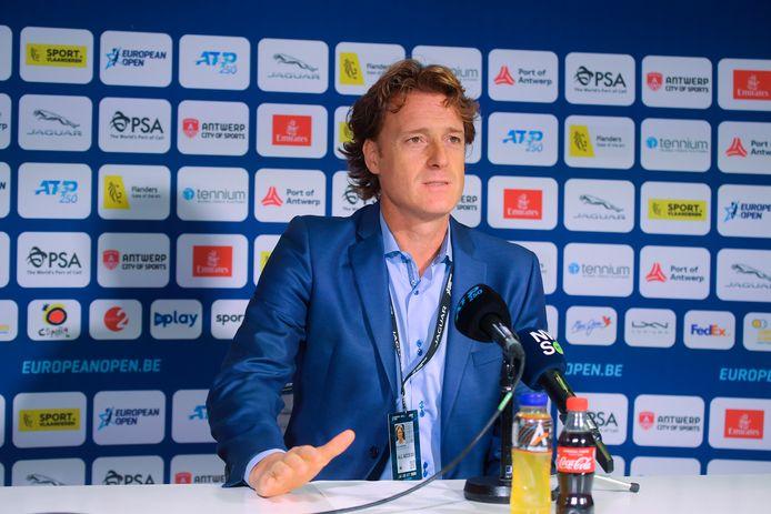 Dick Norman, directeur du tournoi d'Anvers