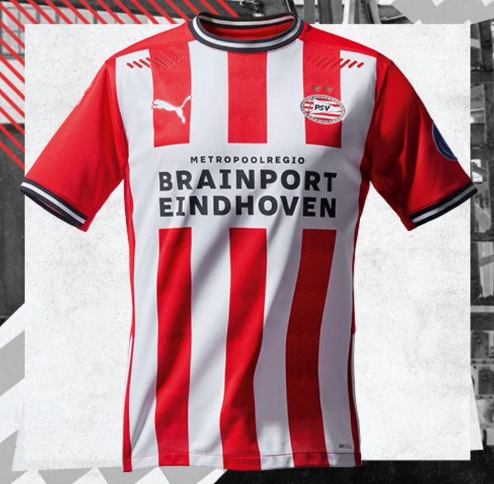 Het nieuwe PSV-thuisshirt.