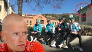 'Chicken' Rasmussen heeft zijn oog voor detail nog niet verloren: keuvelende ploegmakkers van Team Sky krijgen stevige veeg uit de pan