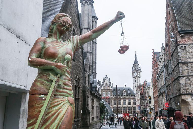 Klimaatbetoging in Gent.